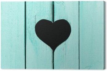 wooden background from old boards with a window in the shape of heart