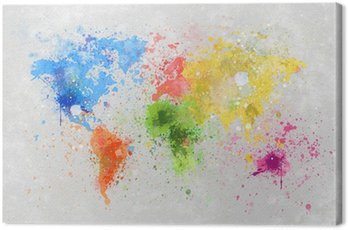 Canvas Print world map painting
