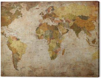 Canvas Print World Map