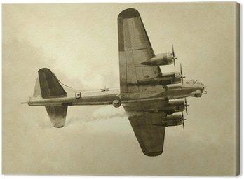 Canvas Print World War II era American bomber