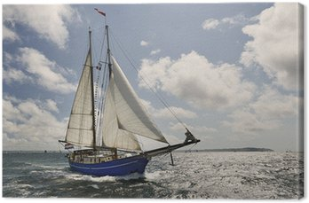Canvas Print Yacht Sailing. Collection of ships and yachts