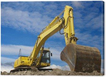 Canvas Print Yellow excavator