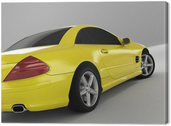 Canvas Print yellow sports car