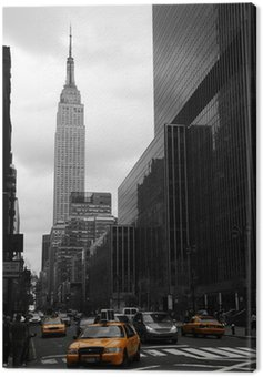 Yellow taxis on 35th street, Manhattan, New York Canvas Print
