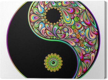 Canvas Print Yin Yang Symbol Psychedelic Art Design-Simbolo Psichedelico