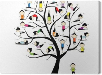 Canvas Print Yoga practice, tree concept for your design