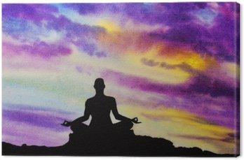 Yogi in the lotus position
