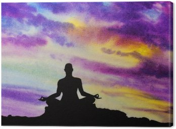 Canvas Print Yogi in the lotus position