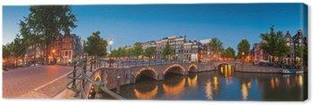 Canvas Reflecties van Amsterdam, Holland