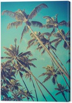 Canvas Retro Diagonaal Palmen In Hawaï