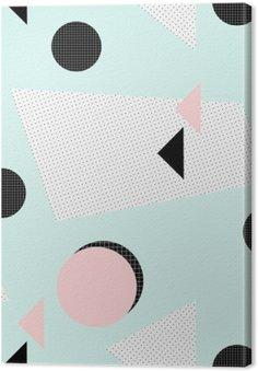 Canvas Retro geometrisch patroon
