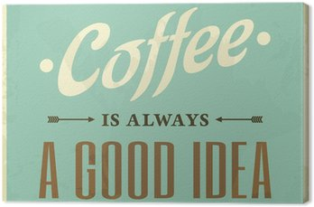 Canvas Retro Style Coffee Poster