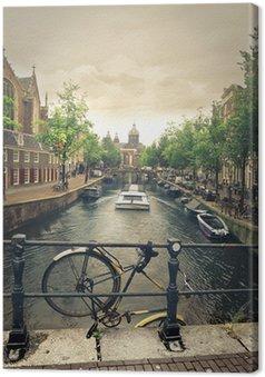 Canvas Rivier in amsterdam
