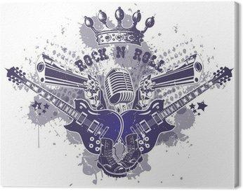 Canvas Rock n roll symbool 5