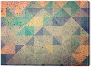 Canvas Roze en paarse driehoek abstracte achtergrond afbeelding