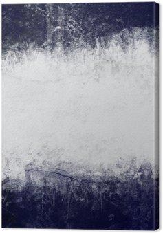 Canvas Samenvatting geschilderde achtergrond in donker blauw en wit met lege ruimte voor tekst