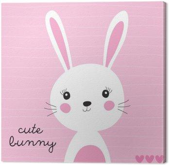Canvas Schattige konijntje vector illustratie