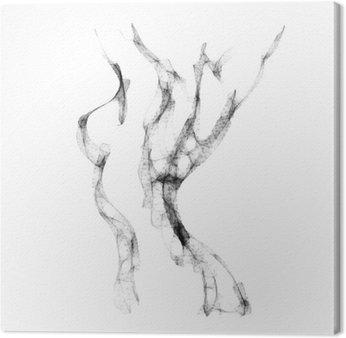 Canvas Silhouet van mooie vrouw naakt vector illustratie