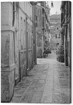 Canvas Smal steegje in Venetië, Italië