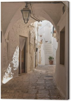 Canvas Steegje. Cisternino. Puglia. Italië.