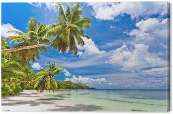 Canvas Strand op de Seychellen