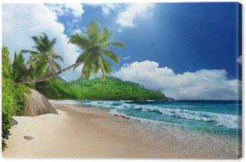 Canvas Strand van Mahe, Seychellen