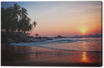 Canvas Tropisch beach
