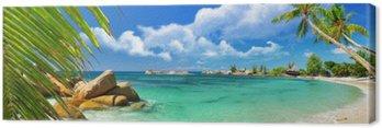 Canvas Tropisch paradijs - Seychellen