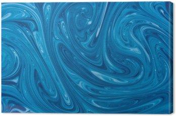 Canvas Turkoois aquarel marmeren achtergrond