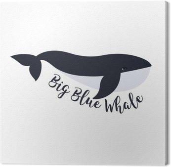 Canvas Vector illustratie van de walvis. symbool ontwerp