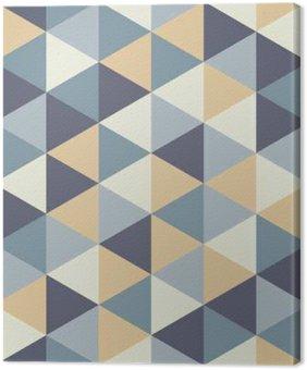 Canvas Vector moderne naadloze kleurrijke geometrie driehoek patroon, kleur abstract geometrische achtergrond, kussen veelkleurige print, retro textuur, hipster fashion design