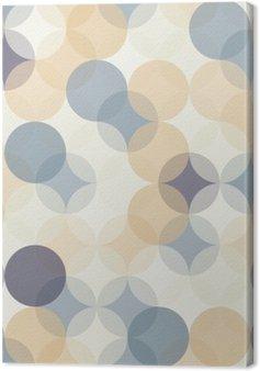 Canvas Vector moderne naadloze kleurrijke meetkunde patroon van cirkels, kleur abstract geometrische achtergrond, behang druk, retro textuur, hipster fashion design, __