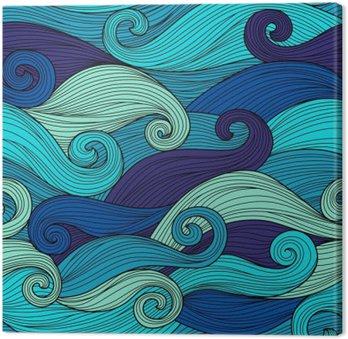Canvas Vector naadloze patroon met abstracte golven