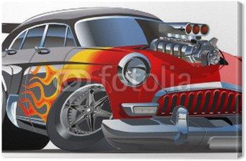 Canvas Vector retro cartoon hotrod