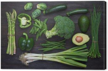 Canvas Verse groene biologische groenten