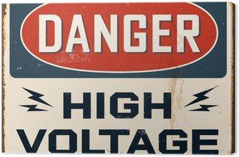 Canvas Vintage metalen bord - Vector - Grunge effecten kunnen worden verwijderd.