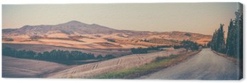 Canvas Vintage Toscaanse landschap