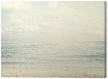 Canvas Vintage tropisch strand in de zomer
