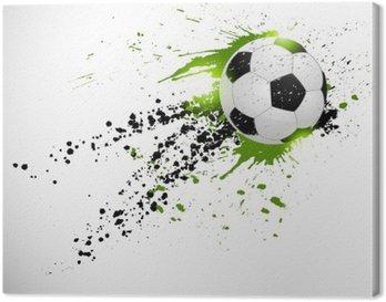 Canvas Vliegende voetbal