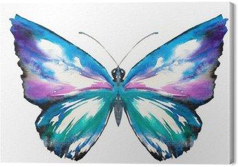 Canvas Vlinder aquarel geschilderd