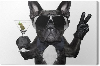 Canvas Vrede cocktail hond