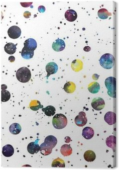 Canvas Watercolor galaxy achtergrond.
