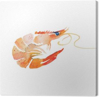 Canvas Watercolor garnalen.