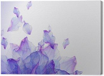 Canvas Waterverfkaart met Purper bloemblaadje
