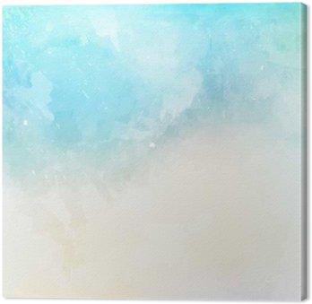Canvas Waterverftextuur achtergrond