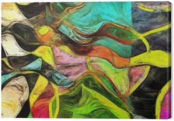 Canvas Wervelende Vormen, kleuren en lijnen