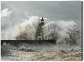 Canvas Winderige kust