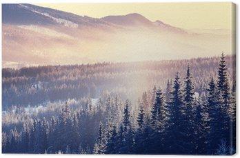 Canvas Winter de bergen