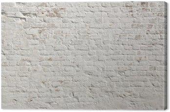 Canvas Witte grunge bakstenen muur achtergrond