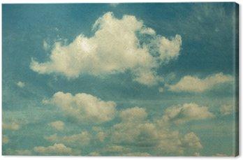 Canvas Wolken in vintage stijl. hemel met wolken Gestileerde onder de oude foto's.